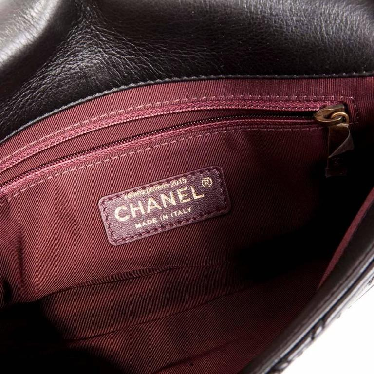 CHANEL Clasp 2.55 Black Smooth Lamb Leather Bag 8