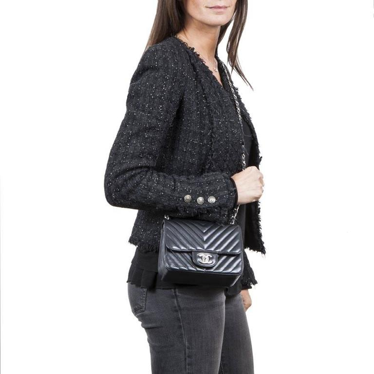 Mini Chanel Quilted Black Lamb Leather Shoulder Bag For Sale 3