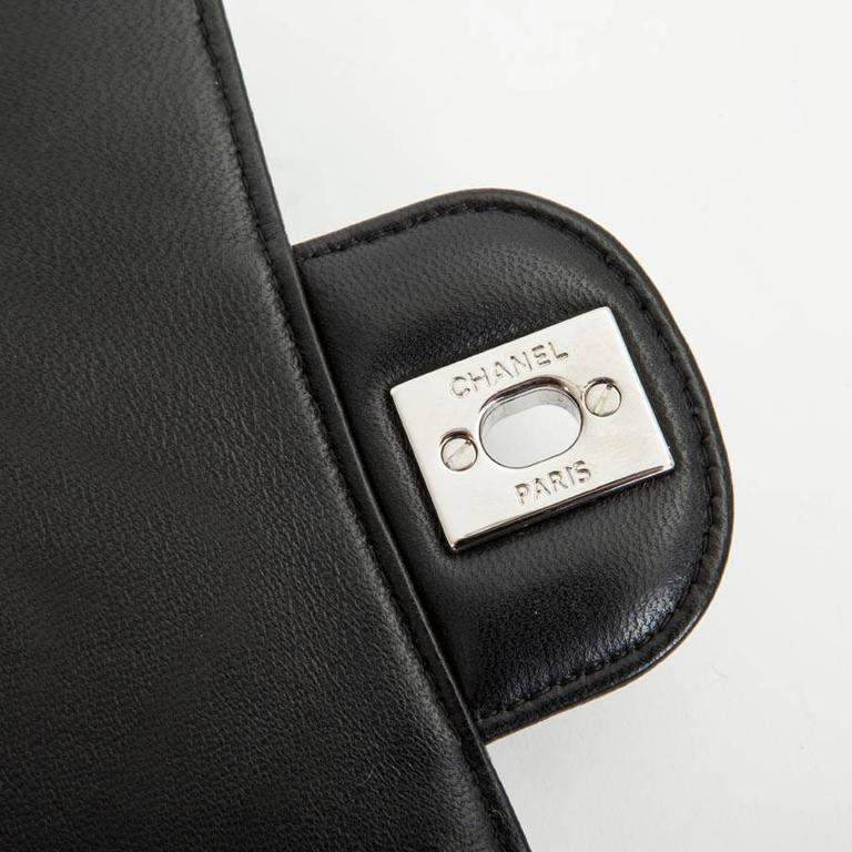 Mini Chanel Quilted Black Lamb Leather Shoulder Bag 10