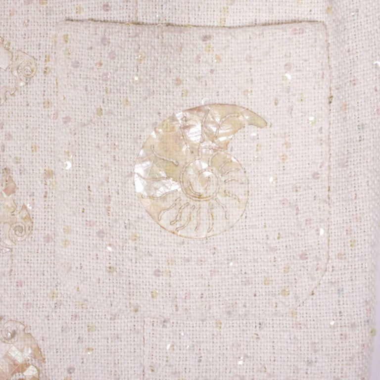 CHANEL Vest 'The Seabed' in Ivory Color Size 38FR For Sale 1
