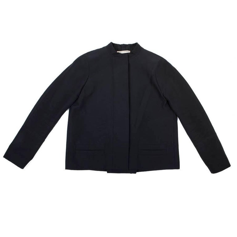 BALENCIAGA Jacket in Black Gros Grain Size 38FR