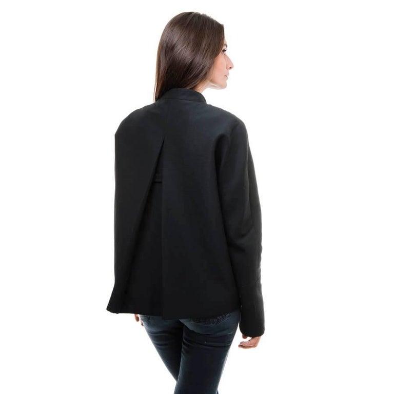 BALENCIAGA Jacket in Black Gros Grain Size 38FR In Excellent Condition For Sale In Paris, FR