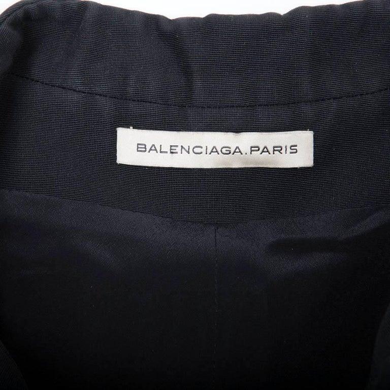 BALENCIAGA Jacket in Black Gros Grain Size 38FR For Sale 2