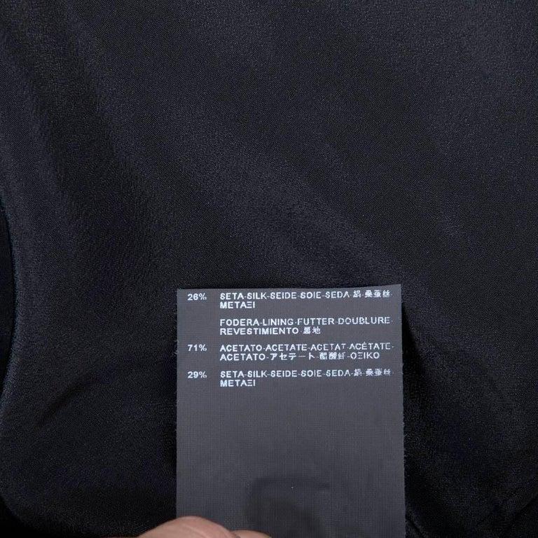 BALENCIAGA Jacket in Black Gros Grain Size 38FR For Sale 3