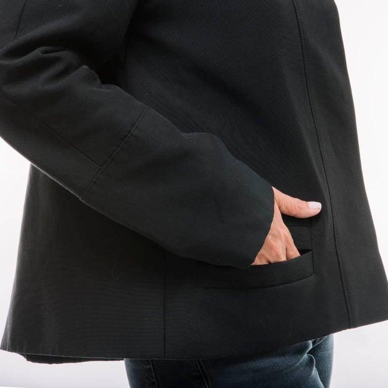 BALENCIAGA Jacket in Black Gros Grain Size 38FR For Sale 1