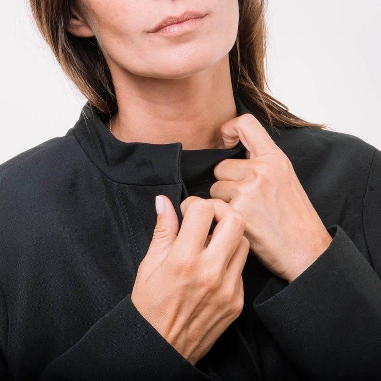 Women's BALENCIAGA Jacket in Black Gros Grain Size 38FR For Sale