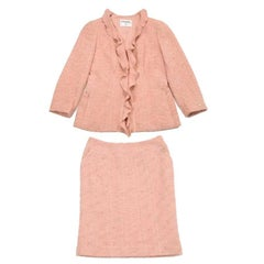 Chanel Skirt Suit in Pink Powder Wool