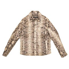 KARL LAGERFELD Jacket in Python Style Leather