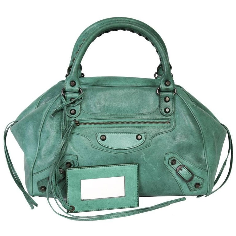 BALENCIAGA  Green Leather Bag