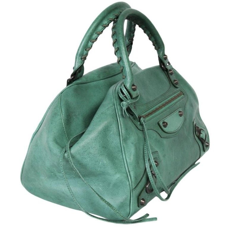 Women's BALENCIAGA  Green Leather Bag  For Sale