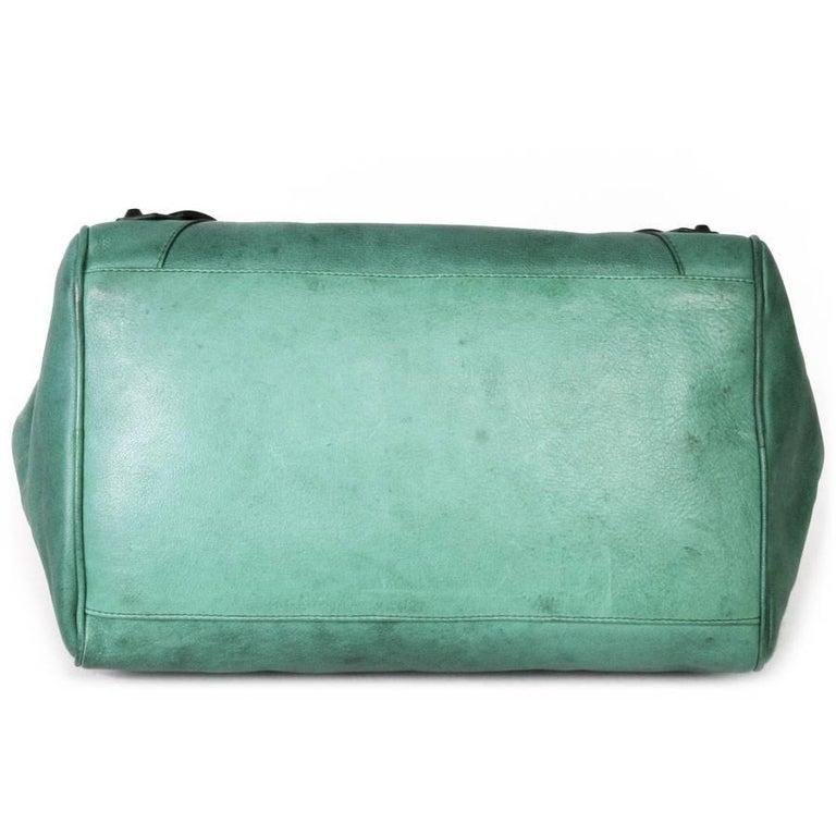 BALENCIAGA  Green Leather Bag  For Sale 1