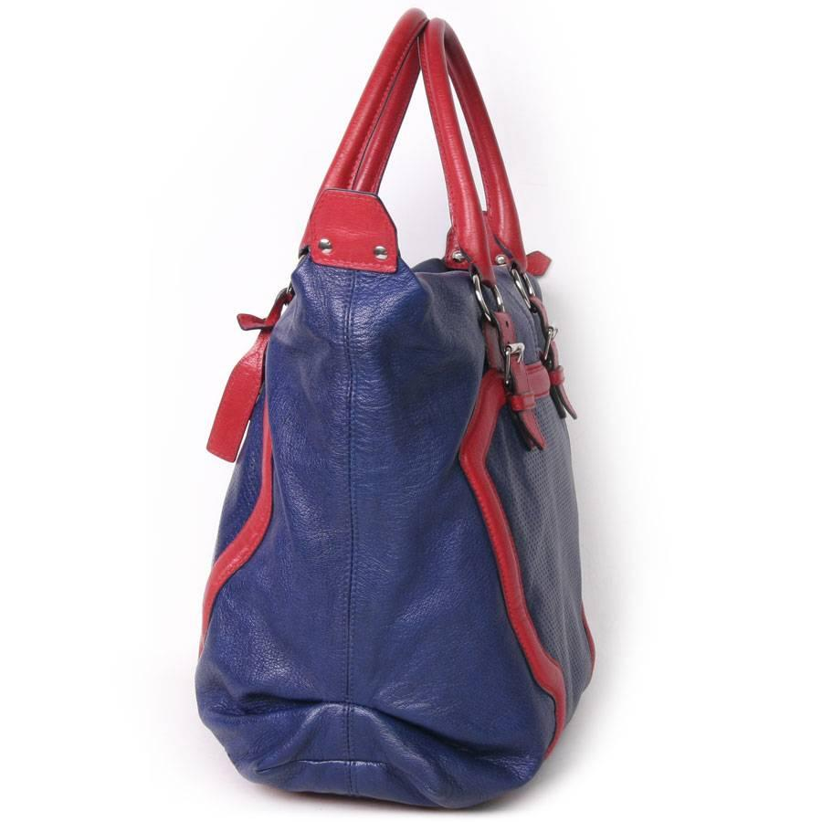 Alexander McQueen Alexander Mcqueen Bag In Red And Blue Electric Perforated And Grained Leather d5Y6pgqX