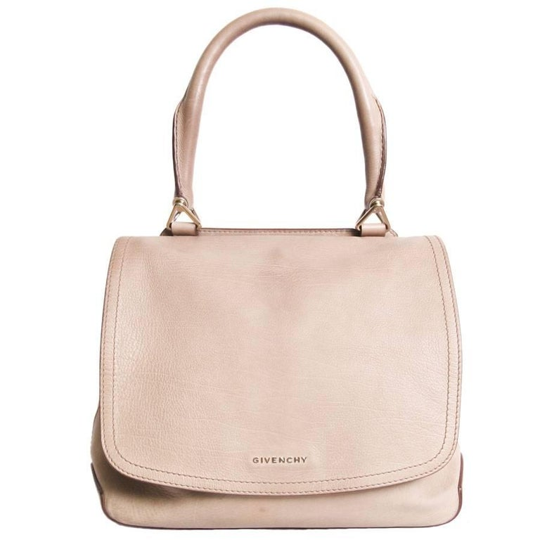 GIVENCHY Satchel Flap Bag in Gold Lamb Leather