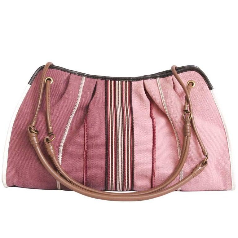 BOTTEGA VENETA Tote Bag in Old Pink Degraded Canvas For Sale at 1stdibs 1a7033720c8b6