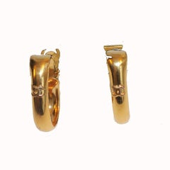 Chanel Vintage Clip-On Earrings in Gilt Metal