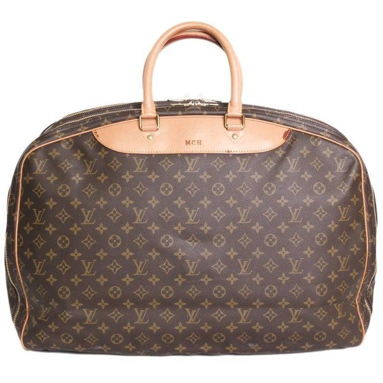 Louis Vuitton Alizé 3 Brown Monogram Canvas Travel Bag
