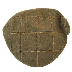 MOTSCH Cap for HERMES, Collection Edinburgh in Wool with Khaki Check Pattern