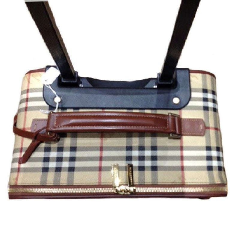 0747766a69f8 Women s or Men s BURBERRY Small Suitcase in original Haymarket Check Canvas  For Sale