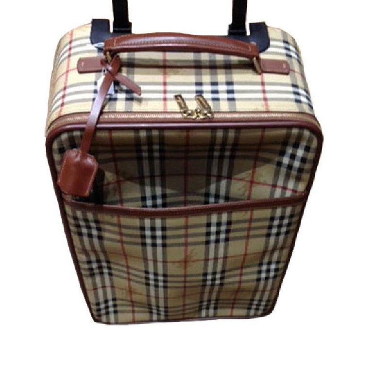8832c4eee6b4 BURBERRY Small Suitcase in original Haymarket Check Canvas at 1stdibs