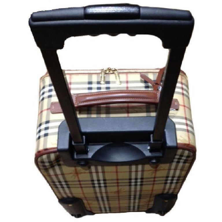 78310669eeec Small BURBERRY suitcase (cabin bag) in original haymarket check canvas with  two wheels.
