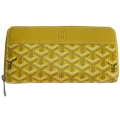 GOYARD Matignon Wallet in Yellow Monogram Canvas and Leather