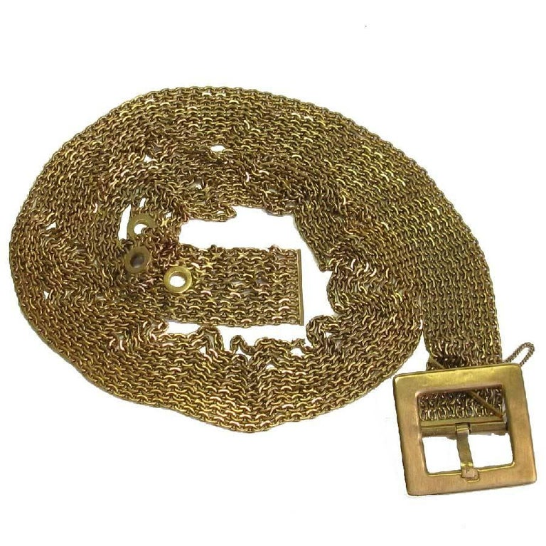 Chanel Nine Chains Gilt Metal Belt