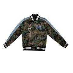 VALENTINO GARAVANI 'Souvenir' Men's Jacket in Multicolored Satin Size 48FR