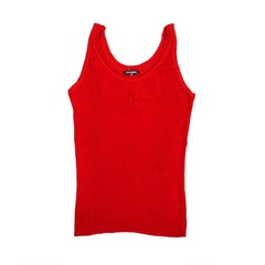 CHANEL Tank Top in Red Stretch Cotton Size 36FR