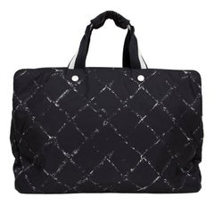 CHANEL Weekend Bag in Black and White Canvas