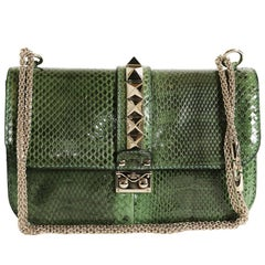 VALENTINO GARAVANI 'Vavavoom' Bag in Green Python Leather