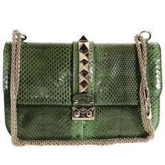 VALENTINO GARAVANI 'Vavavoom' Bag in Green Python Leather