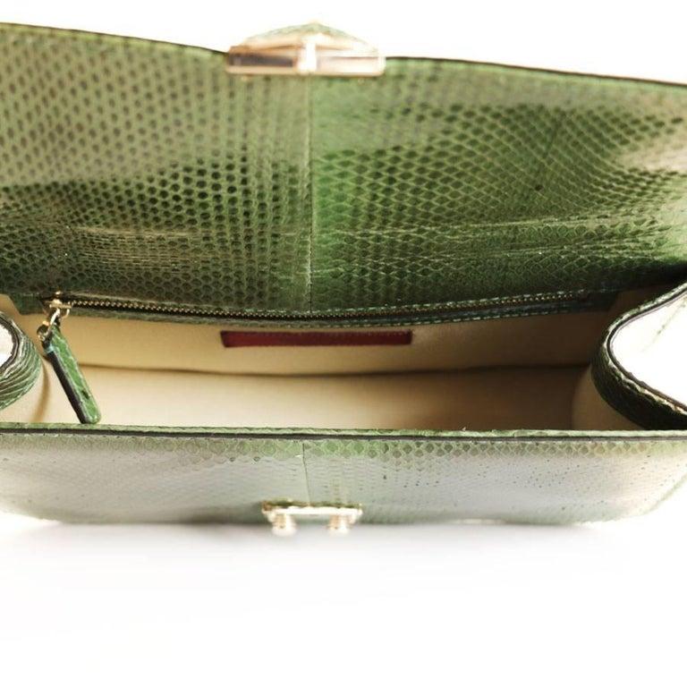 Women's VALENTINO GARAVANI 'Vavavoom' Bag in Green Python Leather For Sale