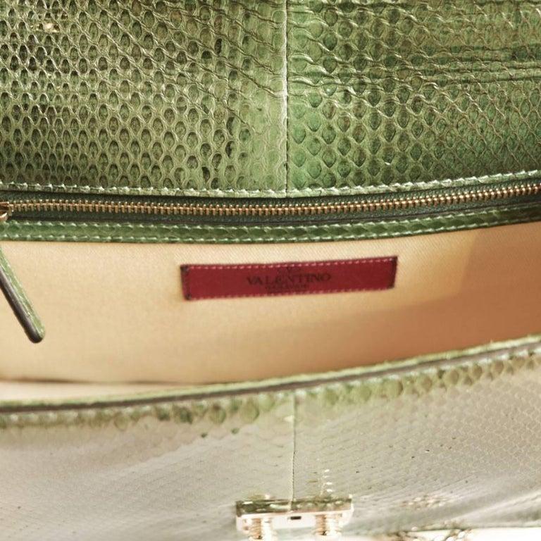 VALENTINO GARAVANI 'Vavavoom' Bag in Green Python Leather For Sale 1