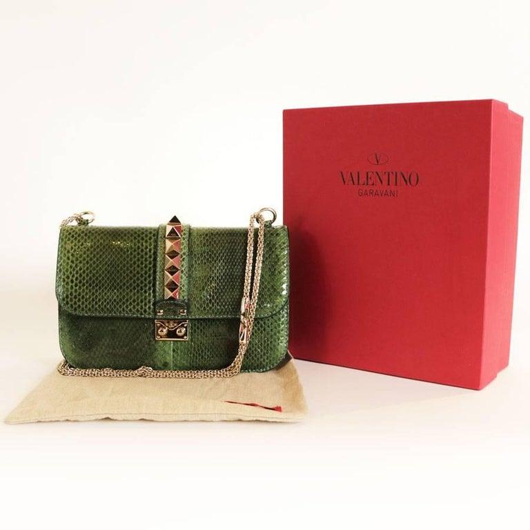 VALENTINO GARAVANI 'Vavavoom' Bag in Green Python Leather For Sale 2