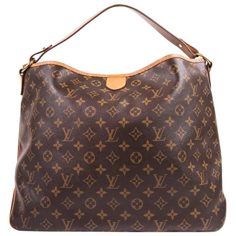 a646552364ab LOUIS VUITTON Neverfull Bag in Brown Monogram Canvas and Leather For Sale