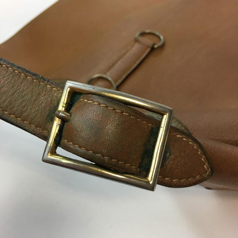 HERMES Vintage Bag Trim Model in Grained Gold Leather For Sale at ... cdb00359b64b4
