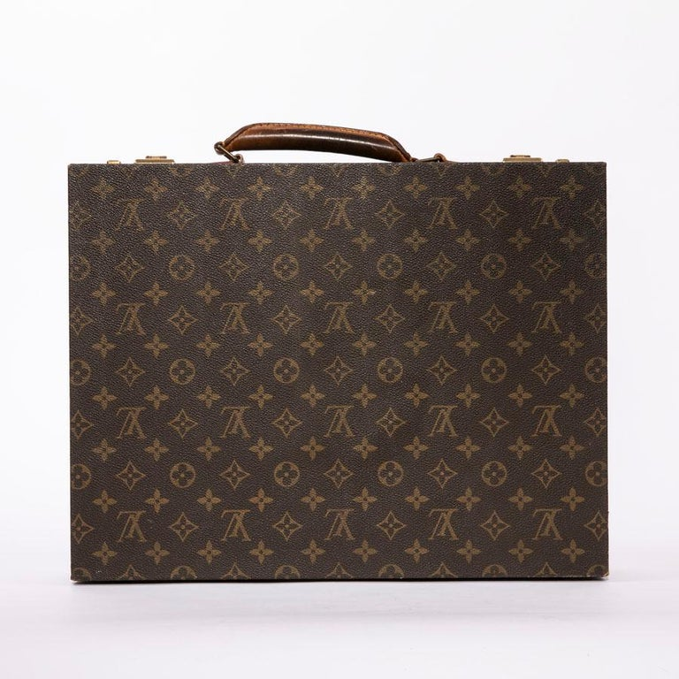 a4d1c9c97275 LOUIS VUITTON Vintage Attaché Case in Brown Monogram Canvas And Natural  Leather In Good Condition For