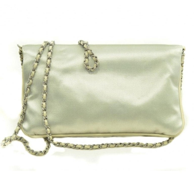 dfdc559082e02b Chanel crossbody bag in pearly gray duchess satin, big clasp 2.55, ideal in  evening