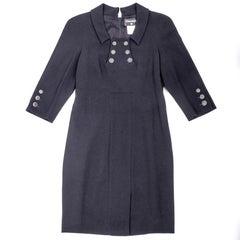 CHANEL Dress in Black Wool Size 42FR