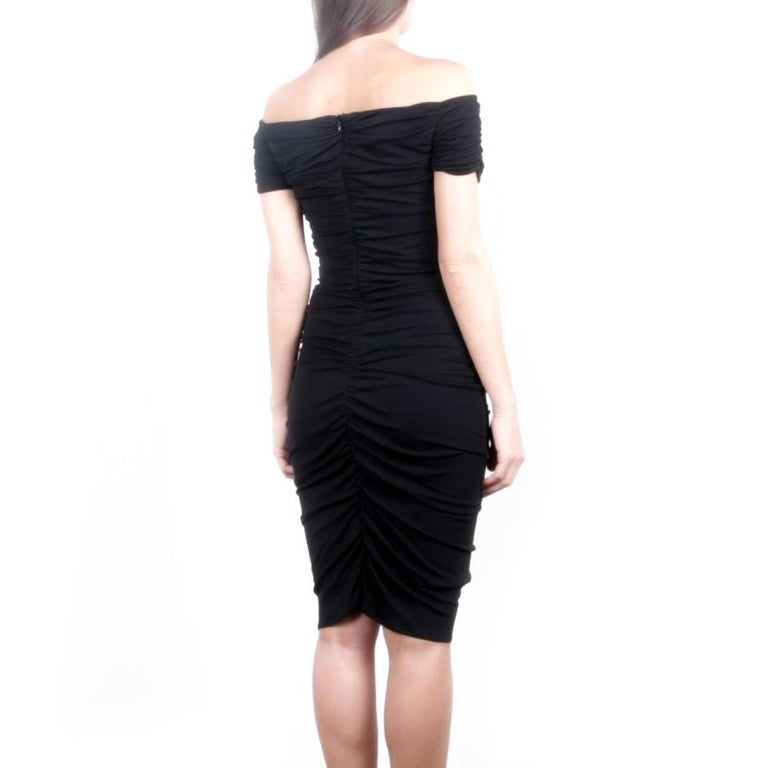 Women's GIAMBATTISTA VALLI Black Stretch Silk Evening Gown Size 42 IT For Sale