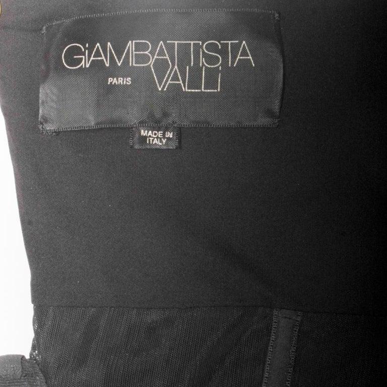 GIAMBATTISTA VALLI Black Stretch Silk Evening Gown Size 42 IT For Sale 3