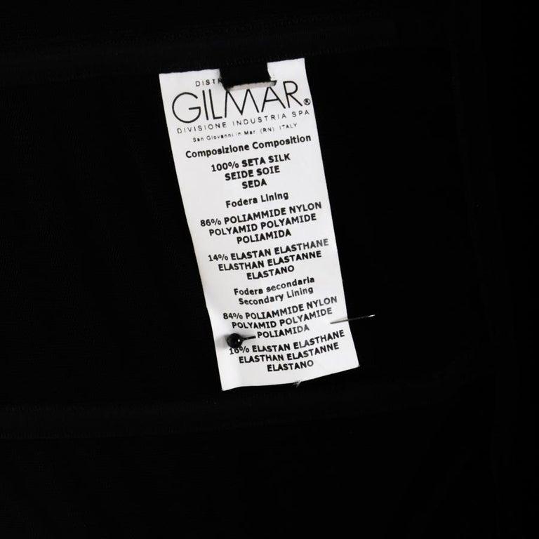 GIAMBATTISTA VALLI Black Stretch Silk Evening Gown Size 42 IT For Sale 4