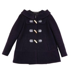 PROENZA SCHOULER Duffle Coat in Navy Blue Wool Size 4 IT