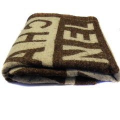 CHANEL Blanket in Brown and Beige Wool
