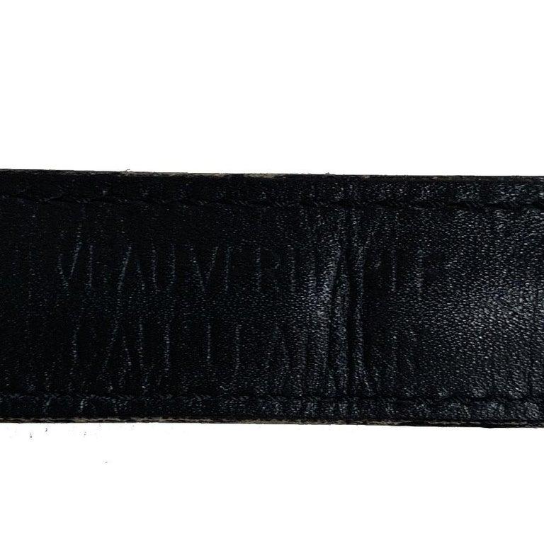 CHRISTIAN DIOR Vintage Belt in Black Calfskin and Gilt Metal Chain Size 80/32 For Sale 4