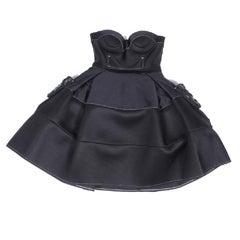 PAULE KA Elegant and Contemporary Black Cocktail Dress Size 40