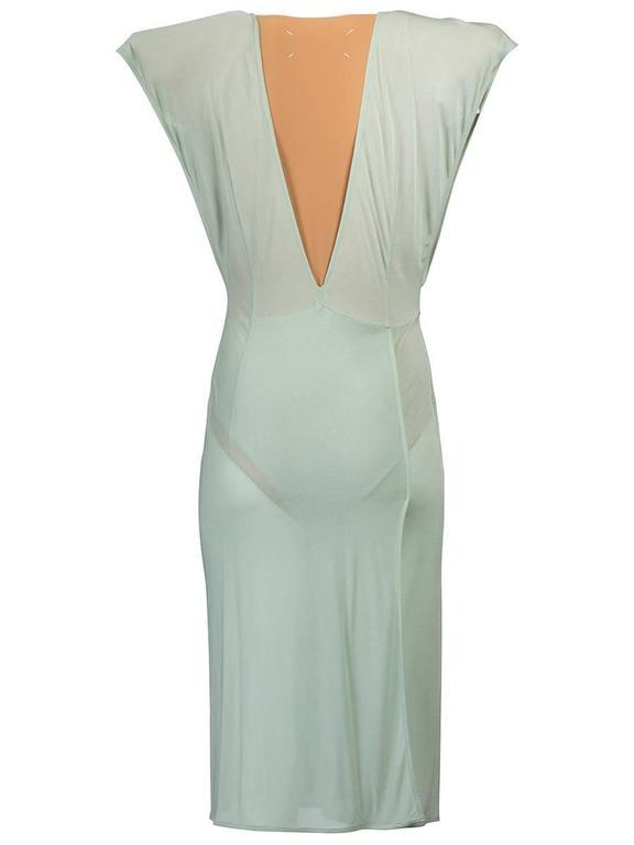 Gray Maison Martin Margiela SS 2009 V-Neck Dress For Sale
