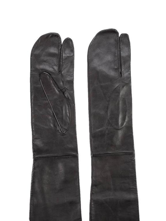 Rare Vintage Maison Martin Margiela Black Leather Long