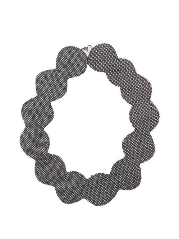 Gray 2002 Maison Martin Margiela Grey Fabric Cutout Neckpiece. For Sale