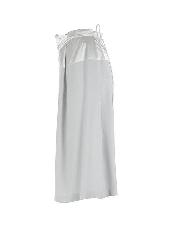Gray Maison Martin Margiela Blank Label Drawstring Silk Skirt For Sale